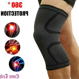 1/2 PCS Knee Sleeve Pad Compression Brace Support for Sports
