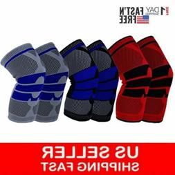 1-2X Knee Sleeve Compression Brace Support For Sport Joint P
