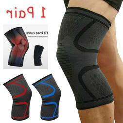 Pair Left Right Knee Brace Support Sleeves For Arthritis Pai