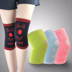 1 Pair Soft Kids Knee Brace Child Knee Pads Support For Socc