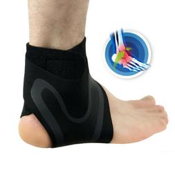 1x Elastic Knee Ankle Foot Support Brace Joint Pain Injury S