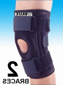 2 knee brace support by patella stabilizer