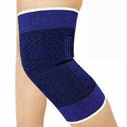 2 KNEE Elastic Brace Muscle Support Arthritis Sports Pain Re
