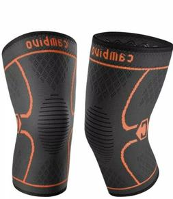 Cambivo 2 Pack Knee Brace Compression Knee Sleeve Support: R