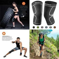 CAMBIVO 2 Pack Knee Brace Compression Sleeve Support For Run