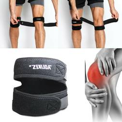 2 Pack Patella Knee Straps Adjustable Dual Band Brace Suppor