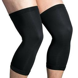 2 Pcs Copper Knee Sleeve Compression Brace Support Joint Pai