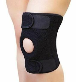 2pcs Black Neoprene Patella Elastic Knee Brace Fastener Supp