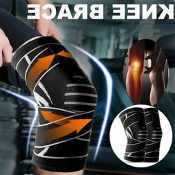 2 Pcs Support Brace Knee Pads Booster Squat Sports Adjustabl