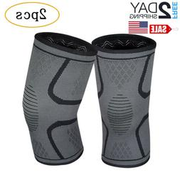 2Pcs Knee Sleeve Compression Brace Support For Sport Joint P