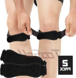 2pcs New Gym Run Knee Kneecap Patella Support Brace Strap Te