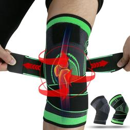 2X Adjustable Knee Brace w/Strap Compression Sleeve Arthriti
