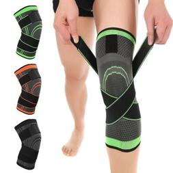 3D Adjustable Strap Elastic Brace Knee Support Compression S