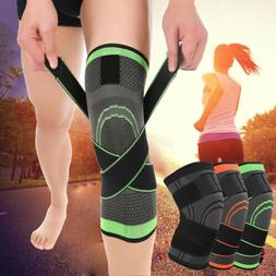 3D Knee Brace Support Breathable Compression Straps Joint Pa