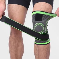 3d Pressurized Fitness Running Cycling Bandage <font><b>Knee