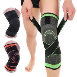 3D Weaving Knee Brace Breathable Support Running Jogging Joi