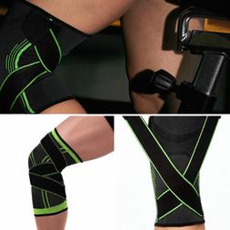 3D Weaving Knee Brace Pad Support Protect Gear Compression K
