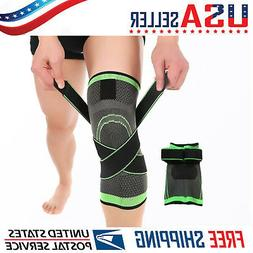 3D Weaving Knee Brace Pad Support Protects Compression Fit R