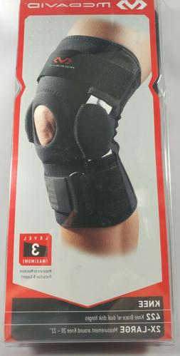 Mcdavid 422 Knee Brace w Dual Disk Hinges 2X-Large Level 3 M