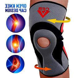 Adjustable Hinged Knee Brace Patella Compression Support Pai