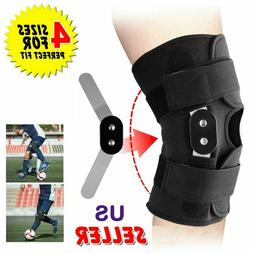 adjustable hinged knee brace support stabilizer patella