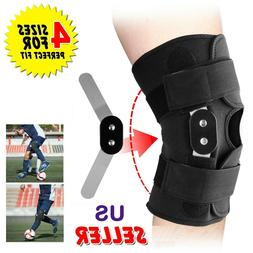 Adjustable Hinged Knee Patella Support Brace Sleeve Wrap Cap