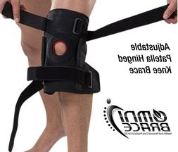 adjustable patella wraparound hinged knee support brace