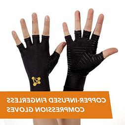 CopperJoint Arthritis Gloves #1 Copper Infused Compression -