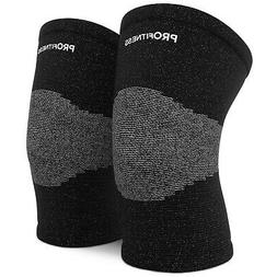 ProFitness Bamboo Fabric Knee Sleeves  Knee Support for Join
