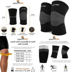 ProFitness Bamboo Fabric Knee Sleeves  Support for Joint Pai