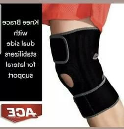 ACE Brand Knee Brace with Dual Side Stabilizers, America's M