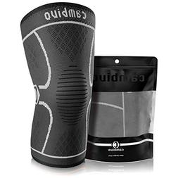 CAMBIVO Compression Knee Sleeve, Athletics Knee Brace Suppor