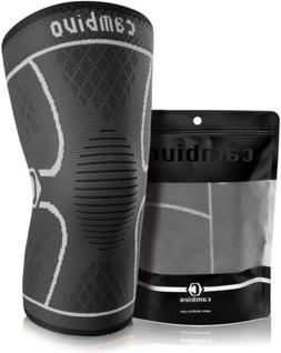 CAMBIVO Compression Knee Sleeve Athletics Brace Support For
