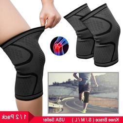 Compression Knee Sleeves Non-Slip Knee Brace for Men Women R