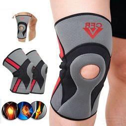 Compression Knee Support Brace Patella Sport Joint Pain Arth