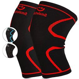 Smalets Compression Knee Support Sleeves  -Powerful Joint Pr