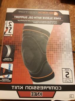Shock Doctor Compression Knit Knee Sleeve with Gel Support,