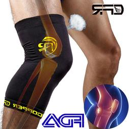 Copper Compression Knee Brace Support Sleeve Pad Sports Arth
