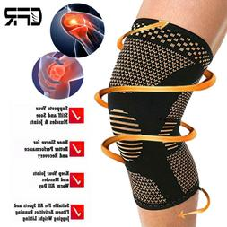 Copper Compression Knee Support Brace Shin Sport Pain Arthri