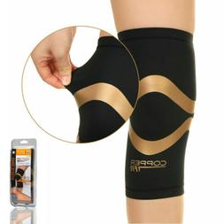 Copper Fit Pro Series Compression Knee Sleeve Gym Sport Prot