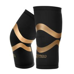Copper Fit Pro Series Compression Knee Sleeve Men Women Perf