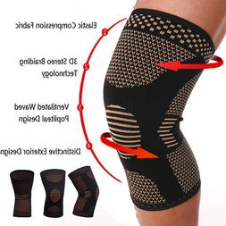 Copper Infused Leg Brace Magnetic Knee Compression Sleeve Su