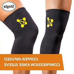 CopperJoint Copper-Infused Compression Knee Sleeve, Promotes