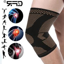 Copper Knee Brace Sleeve Support Compression Pad Joint Pain