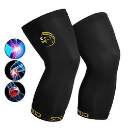 Copper Knee Leg Sleeve Compression Brace Support Sport Joint
