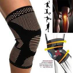 Copper Knee Sleeve Compression Brace Support For Sport Joint