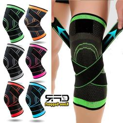 Copper Knee Sleeve Fit Compression Brace Support Sport Joint