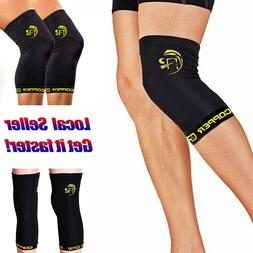 Copper Leg Support Calf Brace Compression Sleeve Fit Sports