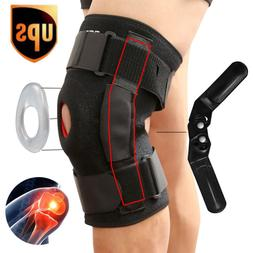 Double Hinged Knee Brace Open Patella Support Stabilizer Med