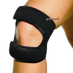 Dual Knee Brace Patella Support Strap New By BraceKing